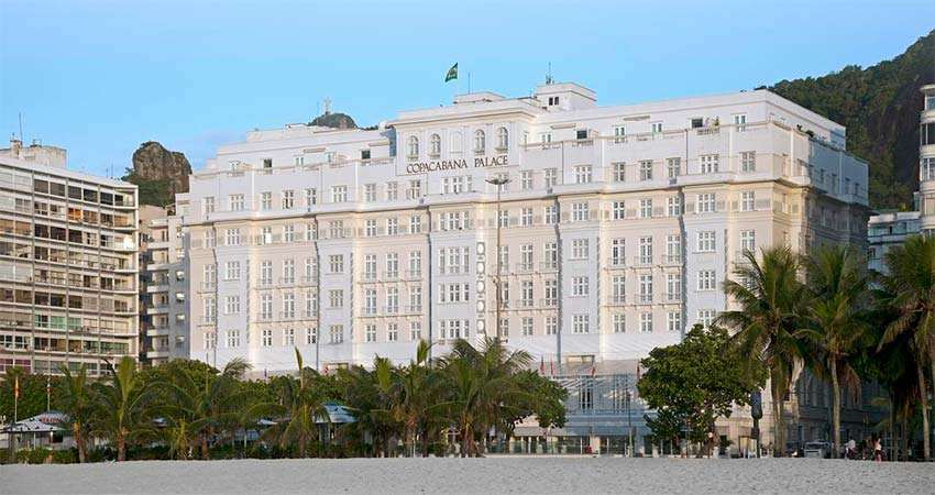 Belmond Copacabana Palace is one of the exclusive locations in the world