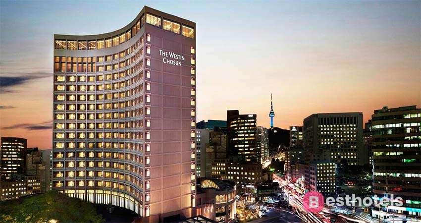 The Westin Chosun - одна из роскошных гостиниц в Сеуле