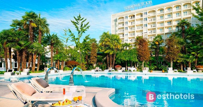 отличный отель с термальным бассейном в Абано-Терме - Trieste & Victoria