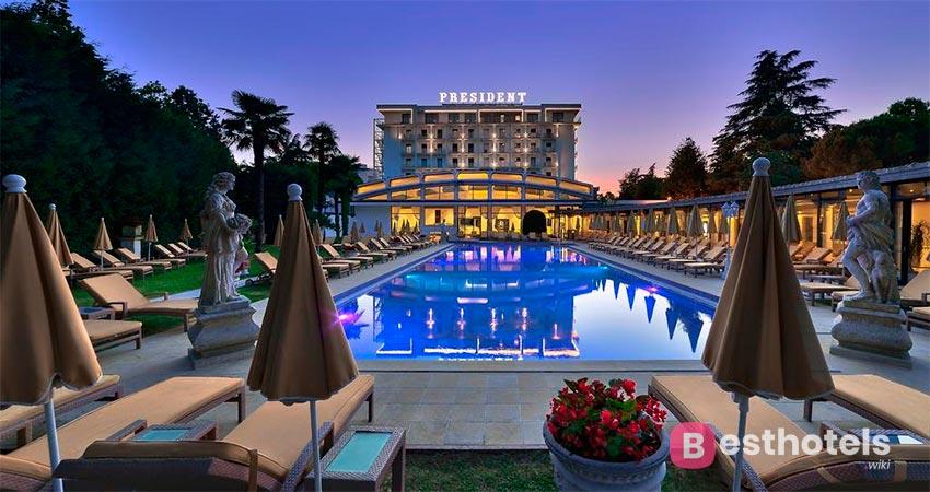безупречная гостиница с термальным бассейном в Абано-Терме - President