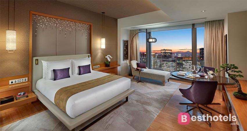 гостиница с наилучшим панорамной картиной мегаполиса - Mandarin Oriental Tokyo