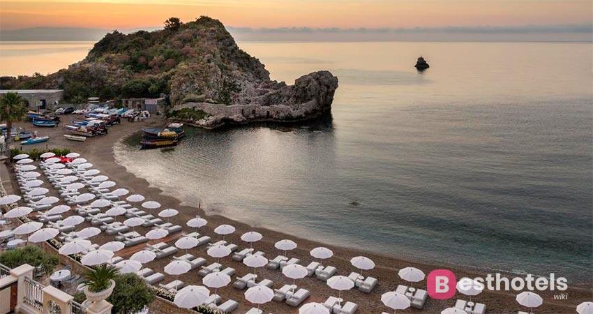 элитный отель Сицилии со своим пляжем - Mazzaro