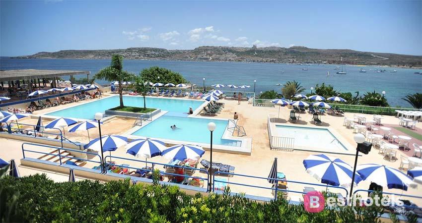 luxury hotel complex in Malta - Mellieha Bay