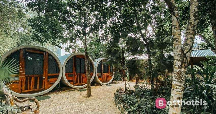 extreme hotel in Mexico - Tubo Tulum Hostel