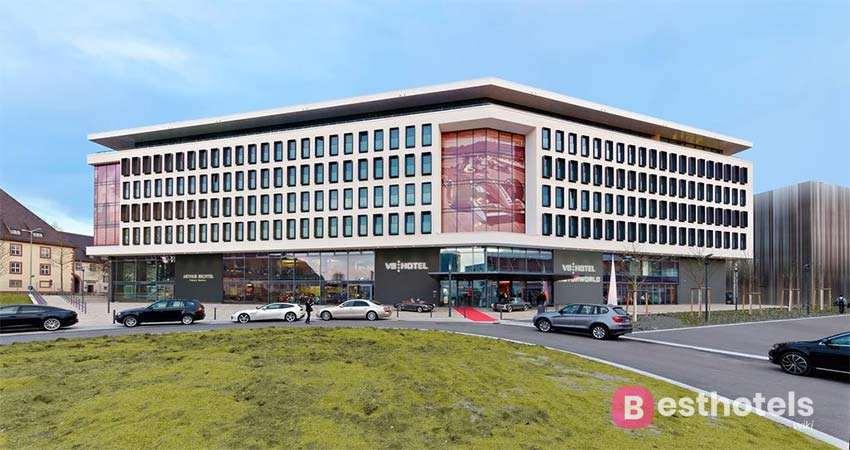 outlandish hotel in Germany - V8 HOTEL Motorworld Region Stuttgart